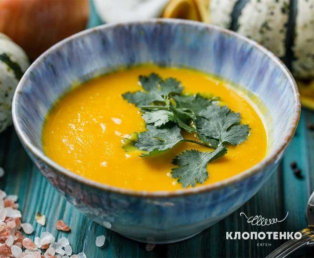 Крем-суп з гарбуза із кокосовим молоком