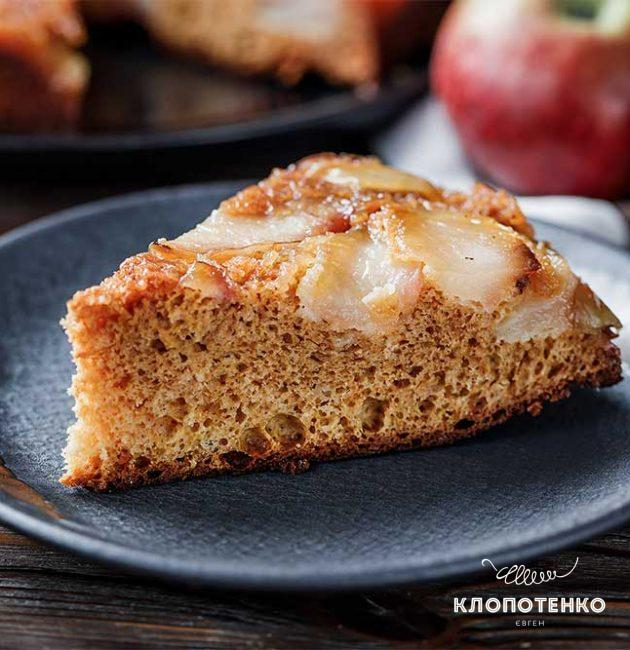 Яблочный пирог со сгущенкой